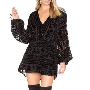 Like new for love and lemons black mini dress